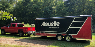 Custom Alouette Trailer Wrap for Brian Moyer