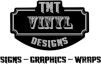 TNT Vinyl Designs logo shield and lettering for signs, graphics, and wraps